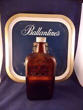 BALLANTINE'S SUPERB SCOTCH WHISKEY TRAY AND EMPTY BOTTLE