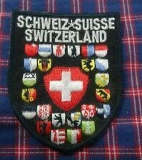 VINTAGE  schweiz suisse swiss switzerland  PATCH Embroidered Cloth Patch Badge