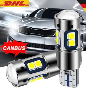 2X T10 W5 W Canbus LED Auto Standlicht Parklicht Innenraum Beleuchtung Licht 12V