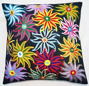 Fine Indian Embroidered Cushion Covers - Vasant