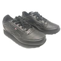Reebok Mens Classic Renaissance Low Top Lace Up Fashion Shoes Black Size 8