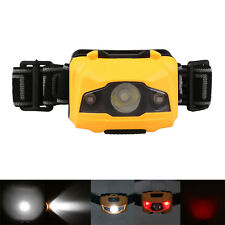 Waterproof White/RED LED 600LM Headlamp Outdoor Head Torch Lamp 4Mode Light