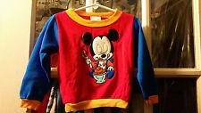 VINTAGE Disney Baby Mickey Mouse Hologram Eyes Long Sleeve Shirt Size 24 Months