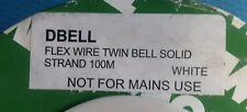 BELL WIRE SOLID COPPER 100mt 2-core WHI, TOWER BRAND