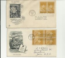 A set of (2) Us Fdc 1948, The Gold Star Mothers Of America, Mail to Dutch Indies