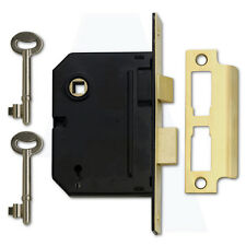 "Yale PM320 3 Lever Mortice Door Sashlock 76mm/3"" Polished Brass"