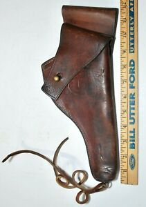 WWII US ARMY M2 LEATHER HOLSTER FOR COLT M1917 REVOLVER - MARKED TEXTAN 1942