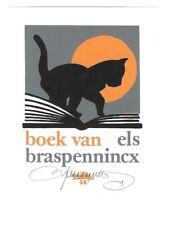 WILLY BRASPENNINCX: Exlibris für Els Braspennincx, Katze