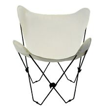 Butterfly Chair & Cover Combination w/Black Frame -Natural Cotton Duck Fabric