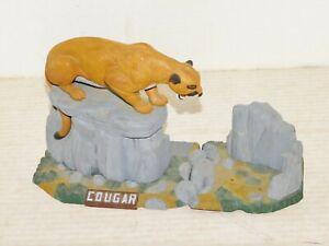 "VINTAGE 1962 AURORA ""COUGAR"" DIORAMA MODEL KIT BUILT WITH NICE PAINT"