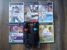 PS2/PS3 Singstar Karaoke Popworld/Rocks/Party/Anthems/Microphones **140 Songs!**