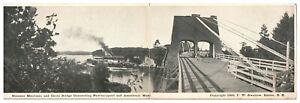 1906 Steamer Merrimac, Chain Bridge Newburyport to Amesbury MA Postcard *5N(3)31