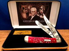"THE CASE XX George Jones""The Grand Tour""Red Bone Trapper Knife & G.J.Display/New"