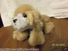 1993 TYCO Puppy Puppy Puppies Brown Tan Plush with Gold Eyes Lab