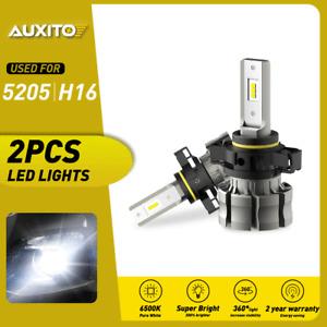 AUXITO 5202 8000LM Fog Light 6500K White High Power LED Driving Bulb DRL CANBUS