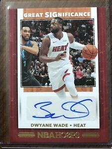 Dwyane Wade 2019-20 Panini Hoops Great Significance Gold Auto Autograph #10/10