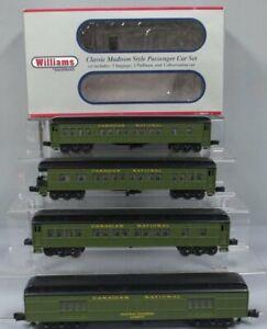 Williams 43470 CN 60 Ft. Madison Passenger Car 4-Pack EX/Box