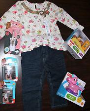 Girl Lot Fisher Price Disney Little People Unicorn Skinny Jeans 18 Mths NEW