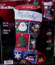 "Bucilla ""MUSICAL QUILT"" Felt Christmas Stocking Kit OOP 84591 CHECK OUT SALE"