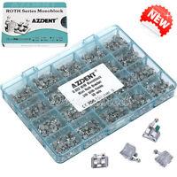 AZDENT Dental Orthodontic Monoblock Bracket Brace Mini Roth Slot.022 Hooks 3-4-5