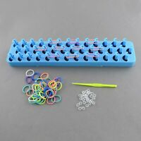 Loom Band Kit ,1 LOOM,1 HOOK, APPROX 600 MIXED COLOUR BANDS + S-CLIPS , Boxed