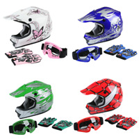 DOT Youth/Kids Child Motorcycle Helmet Motocross Dirt Bike ATV Off-Road S/M/L/XL