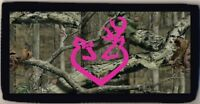 Deer Buck & Doe Pink Heart Logo Mossy Oak Checkbook Cover Credit Card ID Holder