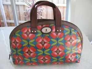 Fossil Key Per Dome Cosmetic Makeup Bag Multi Floral New With Tags