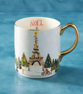 Anthropologie Christmas Time in the City PARIS Mug Sold Out! NWT