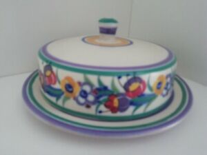 Vintage Art Deco Poole Pottery cheese box, red earthenware,1930s Eileen Pragnell
