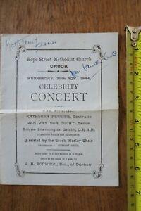 Kathleen Ferrier autograph  signed programme