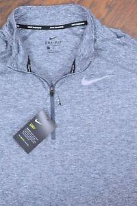 NWT Nike 2.0 Element 1/2 Zip Running Top Grey Heather Men's Large L