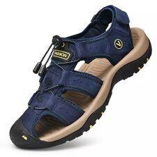Summer Men's Soft Leather Beach Sandals Slippers Outdoor Hiking Trekking Sneaker