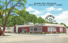 Gulf Port,Mississippi,Paradise Point & Restaurant & Lounge,Linen,Used,1950