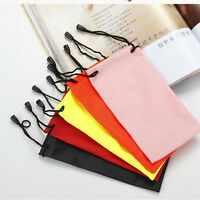 Enduring 5X Sunglasses Bag Pouch Soft Cloth Cleaning Optical Glasses Case Bag