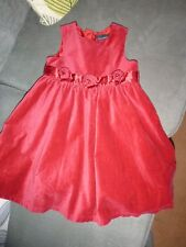 next signature red party dress age 3-4 years
