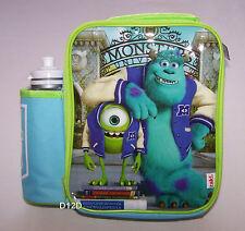 Disney Pixar Monsters University Lunch Box Cooler Bag & Drink Bottle New