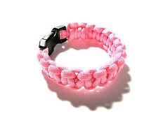 Pink Paracord Survival Bracelet - Assorted Sizes