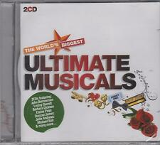 THE WORLDS BIGGEST ULTIMATE MUSICALS - VARIOUS ARTISTS - 2 CD's - NEW -