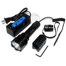 Ultrafire C8 CREE XM-L L2 LED 5Mode  Tactical Flashlight + 18650 Charger Mount