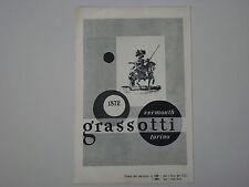 advertising Pubblicità 1948 GRASSOTTI VERMOUTH - TORINO