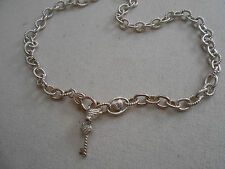 Judith Ripka Sterling Silver Lock and Key Necklace     019949