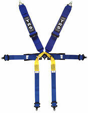 TRS Harness New Pro Superlite 6 Point Single Seater FIA Approved - Blue
