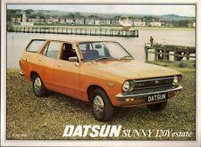 Datsun Nissan Sunny 120Y Estate 1978 UK Market Leaflet Sales Brochure