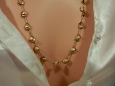 Very Pretty Vintage Gold Tone Necklace-Signed Korea  156n