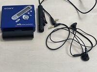 Sony MZ-N710 MiniDisc Recorder/Player Net MD Walkman + battery aa + remote BLUE
