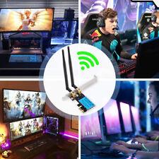 1200Mbps PCI-E 11AC Wireless WiFi WLAN CARD 2.4G/5G Dual Band Antenna