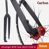 "1-1/8"" MTB Road Bike Full Carbon Fiber Fork  Disc Brake 26/27.5/29 in Superlight"