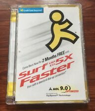 America Online AOL 9.0 Version CD Collectible  2 Months Free 5X Faster