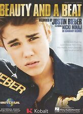 Justin Bieber with Nicki Minaj Beauty And A Beat      US  Sheet Music